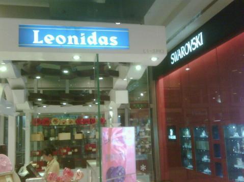 Tienda de chocolates Leonidas en Shanghai